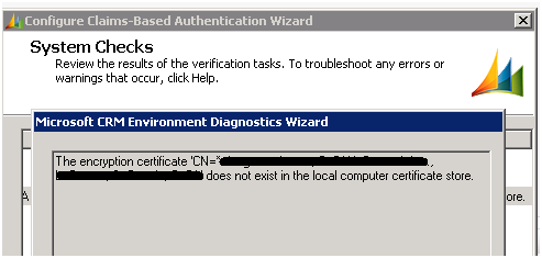 Troubleshooting Certificate Error while configuring Claims