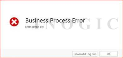 Error on Business Rule violation
