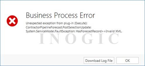 Invalid XML Error