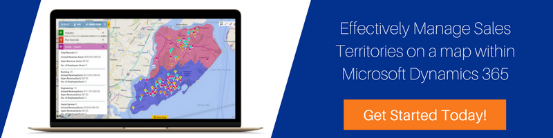 Effectively Manage Sales Territories on a map within Microsoft Dynamics CRM