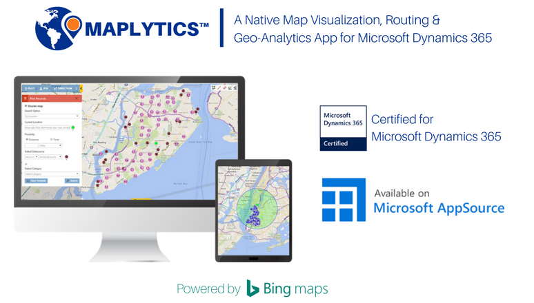 Bing Maps & Microsoft Dynamics CRM Integration Solution - Maplytics