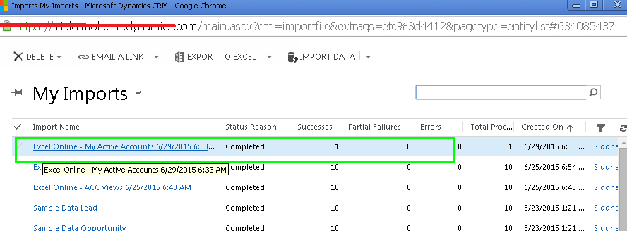 Immersive Excel Experience with Dynamics CRM 2015 Online Update 1