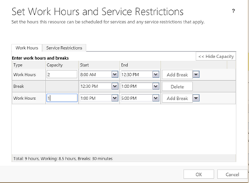 Scheduling multiple appointments in dynamics crm