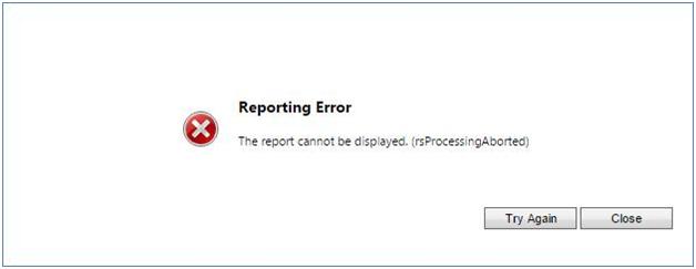 RsProcessing Error
