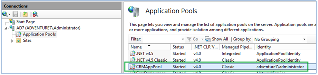 RsProcessing error in crm