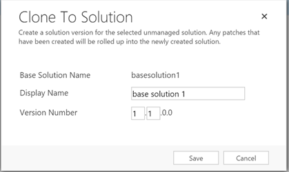 Solution patching in crm 2016