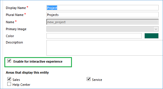 Interactive Service experience in MS crm