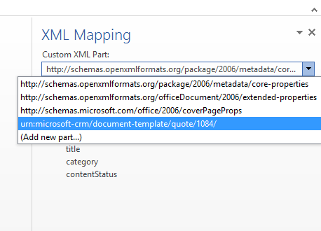 Word Template feature in Dynamics CRM 2016
