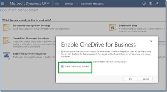 enable onedrive for business