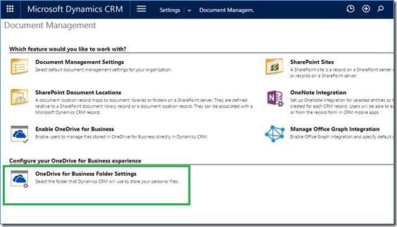 onedrive for business folder settings