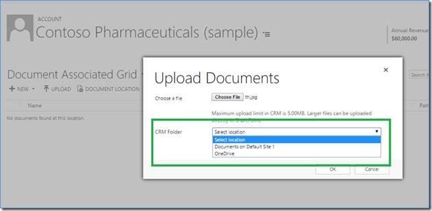 upload documents in onedrive