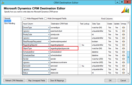 migrating data through SSIS