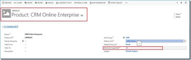 Product in Destination CRM