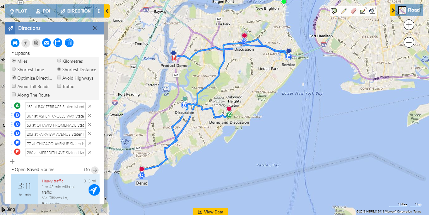 Create Optimized routes in Dynamics CRM