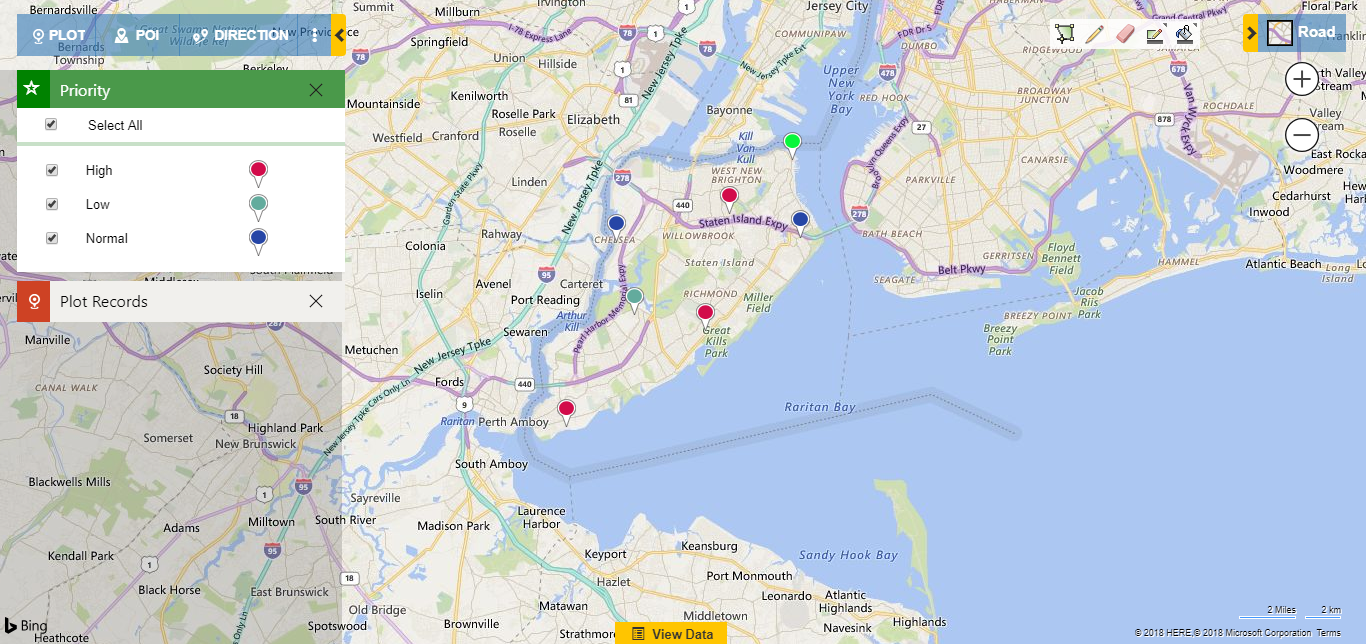 Dynamics CRM appointments on map
