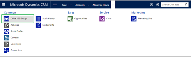 Office 365 Groups in Dynamics CRM