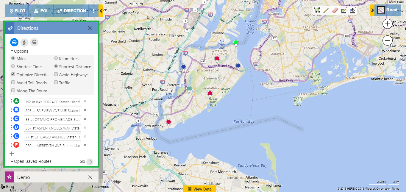 Analyze Dynamics CRM data on map
