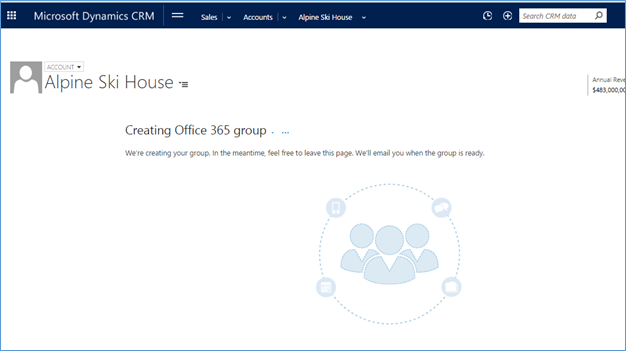 create Office 365 Groups in Dynamics CRM