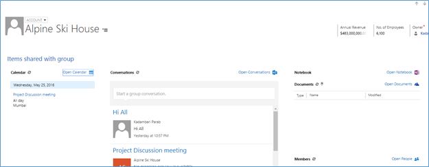 Office 365 Groups in Dynamics CRM Online