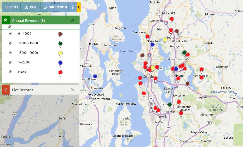 Defining colors for category - Bing Maps Dynamics CRM