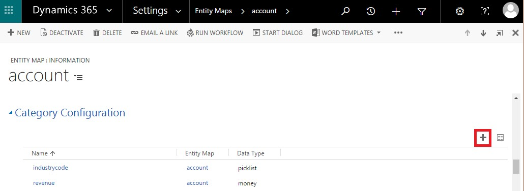 Defining colors for category - Map MS Dynamics CRM