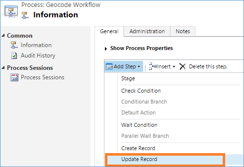 Dynamics CRM Geocode Workflow