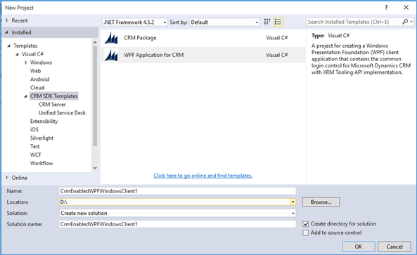 Implement Control for your new WPF application