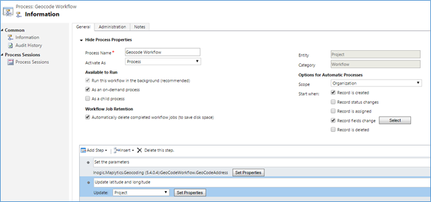 activate the workflow in crm