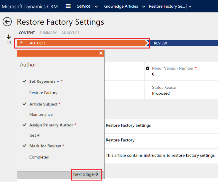 Restore factory setting in KB