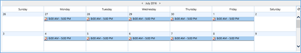 Work hours scheduled in CRM