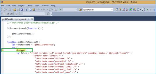 debug your script in Visual studio