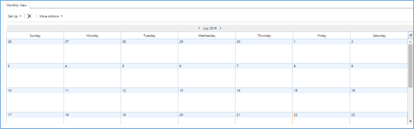 monthly calender view