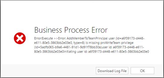 business process error