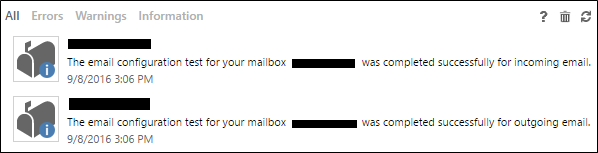 Incoming and Outgoing email
