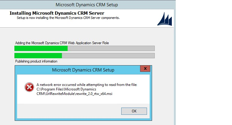 UrlRewriteModule error in Dynamics CRM