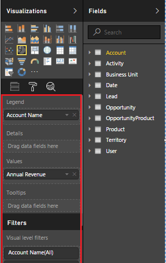 Visualization Account Name Power BI 6