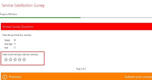 service satisfaction survey Dynamics CRM