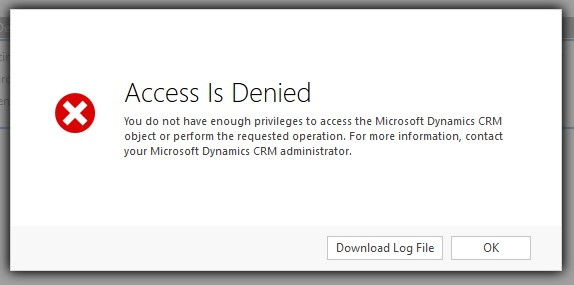 Access is denied error