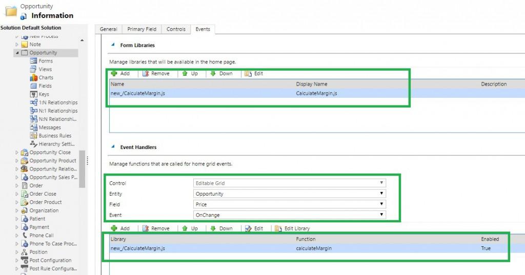 Events in Dynamics 365 Editable Grid | Microsoft Dynamics 365 CRM