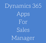 Dynamics 365AppsForSalesManager