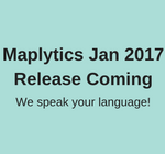 Maplytics Jan Release