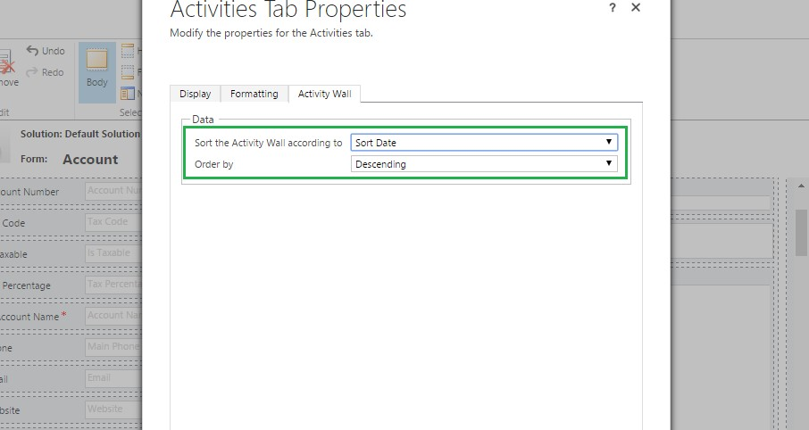 Sort Activities by Custom Date fields on the SocialActivity Pane-Dynamics CRM