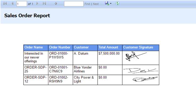 sales order report