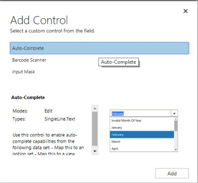 Auto Complete Control in Dynamics 365