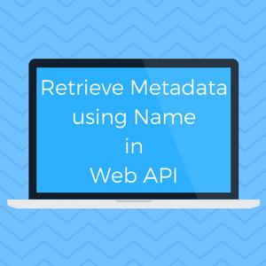 Retrieve Metadata using Name in Web API | Microsoft Dynamics
