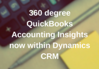 360 degree QuickBooks Accounting Insights now within Dynamics 365