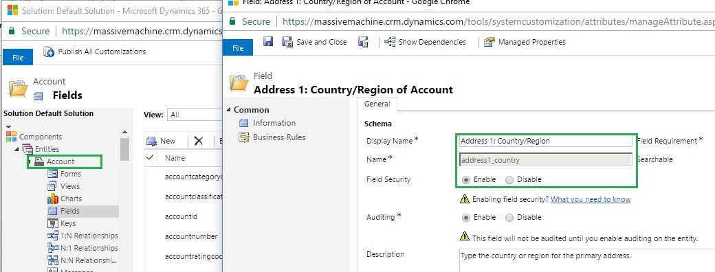 Double check Field Level Security in Dynamics CRM