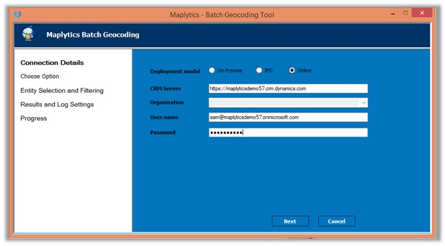 Geocoding Maps MS Dynamics CRM