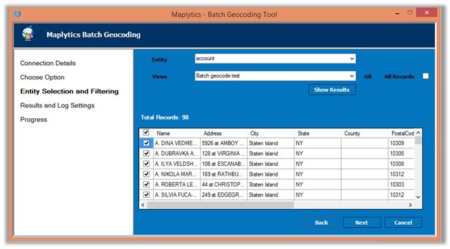 Geo Map tool Dynamics CRM