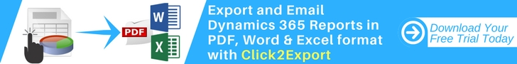 Export and Email Dynamics 365 Reports in PDF, Word & Excel format with Click2Export